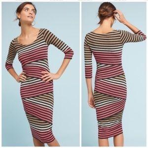 Bailey 44 knit column midi striped stretch dress